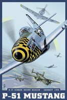 P-51 Mustang Airplane Ad Fine-Art Print