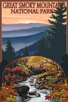 Great Smoky Mountains Fall Park Fine-Art Print