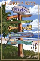 Florida Keys Sign Ad Fine-Art Print