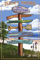 Jersey Shore Beach Signs Fine-Art Print