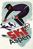 Ski Aspen Ad Fine-Art Print