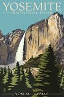 Yosemite Falls Park Ad Fine-Art Print