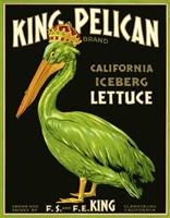 King Pelican Brand Lettuce Fine-Art Print
