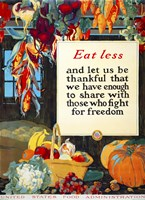 Eat Less, and Let us be Thankful Fine-Art Print