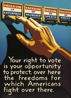 Don't Forget to Vote Today Fine-Art Print