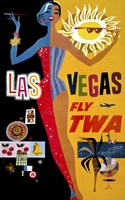 Las Vegas, Fly TWA Fine-Art Print