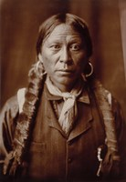 A Jicarilla Man, by Edward Curtis Fine-Art Print