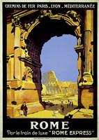Rome Express Rome, Par le Train de Luxe Fine-Art Print