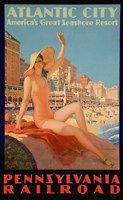 Atlantic City Bathing Pa Line Fine-Art Print