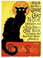 Chat Noir (with text) Fine-Art Print