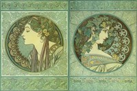 Green Medallions Fine-Art Print