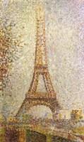 Eiffel Tower by Seurat Fine-Art Print