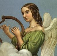 Angel With Harp Fine-Art Print