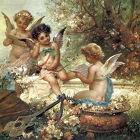Cherubim In the Forest Fine-Art Print