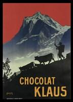 Chocolat Klaus Mountains Switzerland, 1910 Fine-Art Print