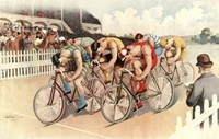 Bicycle Race Scene, 1895 Fine-Art Print