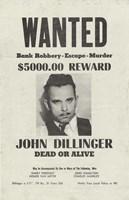 John Dillinger Wanted Poster Fine-Art Print