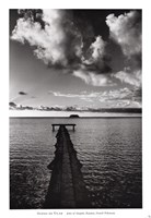 Jetty of Atiapiti, Raiatea, French Polynesia Fine-Art Print