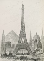 La Tour Eiffel - Hauteur Comparee Fine-Art Print