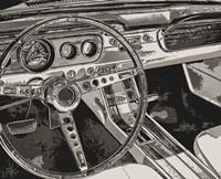 Vintage Car Dashboard Fine-Art Print