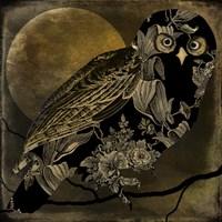 Sepia Moon Owl Fine-Art Print