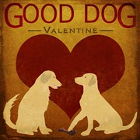 Good Dog Valentine III Fine-Art Print