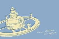 Lunastrella Space Station Framed Print