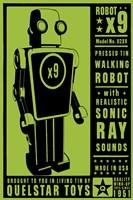 Quelstar X9 Tin Toy Robot Fine-Art Print