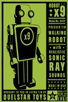 Quelstar X9 Tin Toy Robot Fine-Art Print