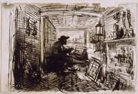 The Studio On The Boat,  c. 1860 Fine-Art Print