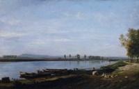 The Seine At Bezons, c. 1851 Fine-Art Print