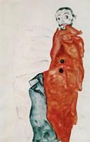 "Self Portait As A Prisoner """"Ich Liebe Gegensaetze"""" (I Love Antitheses), 1912 Fine-Art Print"