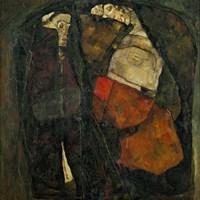 Pregnant Woman And Death Fine-Art Print