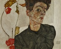 Self-Portrait With Chinese Lantern And Fruits, 1912 Fine-Art Print