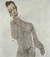 Portrait Of Painter Karl Zakovsek, 1910 Fine-Art Print