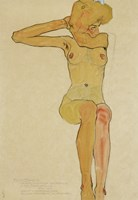 Seated Female Nude With Raised Right Arm, 1910 Fine-Art Print