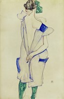 Standing Girl In Blue Dress And Green Stockings, 1913 Fine-Art Print