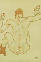 Seated Female Nude, Back View, 1915 Fine-Art Print