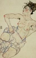 Kneeling Female Semi-Nude, 1917 Fine-Art Print
