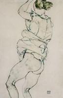 Standing Semi-Nude With Raised Left Arm, 1914 Fine-Art Print