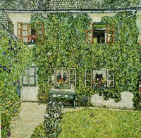 Forsthaus In Weissenbach Am Attersee - Forestry House In Weissenbach On Attersee-Lake, 1912 Fine-Art Print