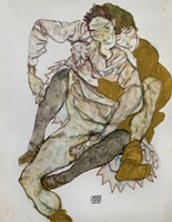 Seated Couple (Egon Und Edith Schiele), 1915 Fine-Art Print