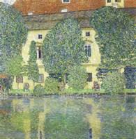 Schloss Kammer Am Attersee Iii (Wasserschloss), 1910 Fine-Art Print