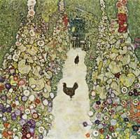 Garden Path with Hens, 1916 Fine-Art Print