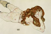 Female Nude On Her Stomach, 1917 Fine-Art Print