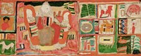 Mother with Children, Flanked by Toys and Ornaments, 1915 Fine-Art Print