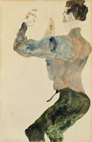 Self-Portrait with Raised Arms, 1912 Fine-Art Print