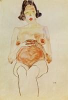 Red Nude, Pregnant, 1910 Fine-Art Print