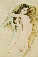 Zwei Frauen In Umarmung [Two Women Embracing], 1911 Fine-Art Print