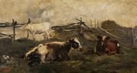 Landscape With Cows Fine-Art Print